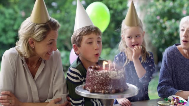 lots of love around the birthday table - formal garden party stock videos & royalty-free footage
