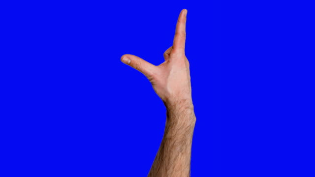 lots of touchscreen gestures on blue screen. hd - touch sensitive stock videos and b-roll footage