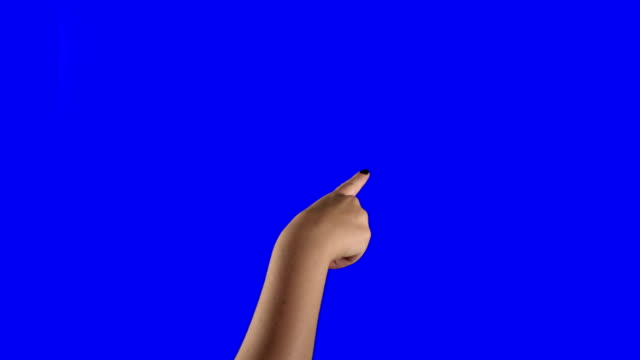 Lots of Touchscreen Gestures on Blue Screen.