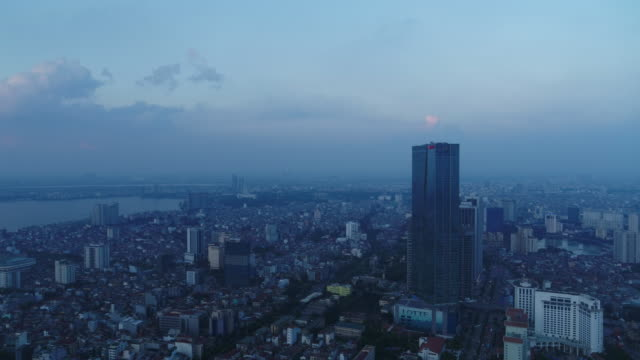lotte center hanoi (business center) and city buildings / hanoi, vietnam - ベトナム点の映像素材/bロール
