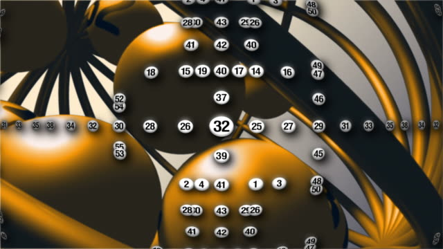 lottery balls composition gold and white - lottery stock videos and b-roll footage