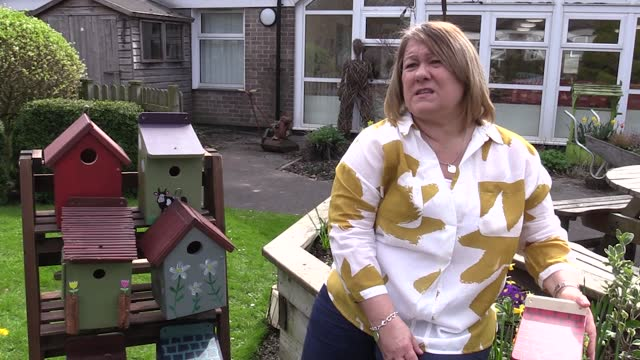 lottery winners from the north west have built and painted bird boxes to be donated to care homes and the elderly in the area, inc charnley fold in... - gill stock videos & royalty-free footage