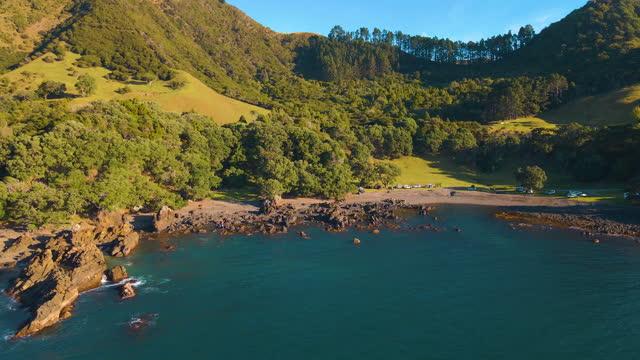 lottin point aerial shot - island stock videos & royalty-free footage