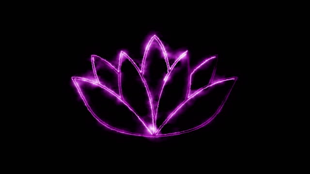 lotus symbol - simbolo video stock e b–roll