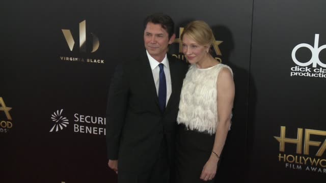 lou diamond phillips and yvonne boismier phillips at 20th annual hollywood film awards at the beverly hilton hotel on november 06 2016 in beverly... - yvonne boismier phillips stock videos & royalty-free footage