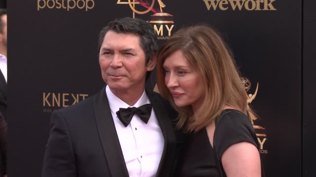 lou diamond phillips and yvonne boismier phillips at the 2019 daytime emmy awards at pasadena civic center on may 05 2019 in pasadena california - yvonne boismier phillips stock videos & royalty-free footage