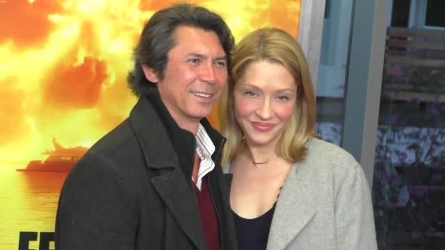 lou diamond phillips and yvonne boismier phillips at the fear the walking dead season 2 premiere at celebrity sightings in los angeles on march 29... - yvonne boismier phillips stock videos & royalty-free footage