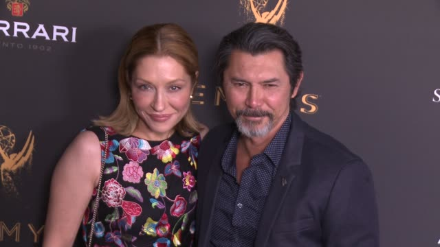 lou diamond phillips and yvonne boismier phillips at the stars celebrate the 69th emmy awards season at the television academy's performers peer... - yvonne boismier phillips stock videos & royalty-free footage