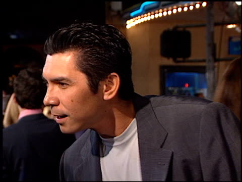lou diamond phillips at the 'fight club' premiere at the mann village theatre in westwood california on october 6 1999 - westwood neighborhood los angeles stock videos & royalty-free footage