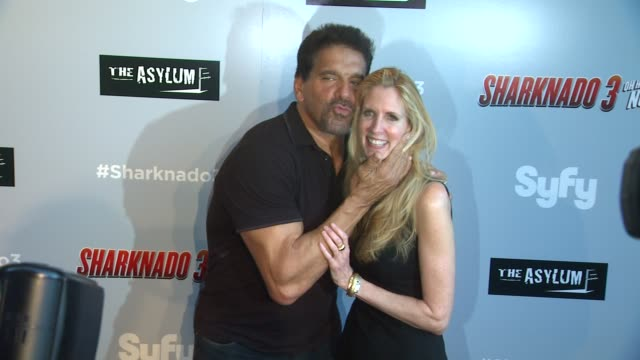 Lou Ferrigno and Ann Coulter at The Asylum's 'Sharknado 3 Oh Hell No' Los Angeles Premiere at iPic Theaters on July 22 2015 in Los Angeles California