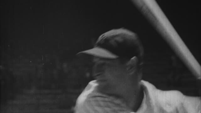 lou gehrig hits homerun / united states - home run stock-videos und b-roll-filmmaterial