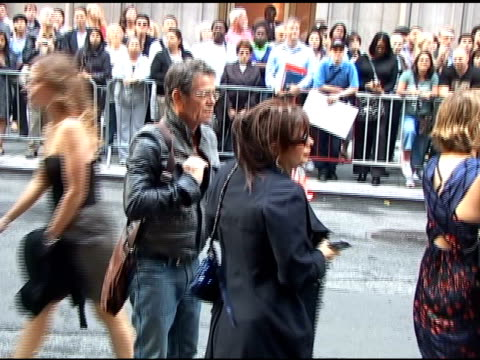 lou reed arrives at the opening of 'spiderman: turn off the dark' in times square in new york 06/14/11 - ルー リード点の映像素材/bロール