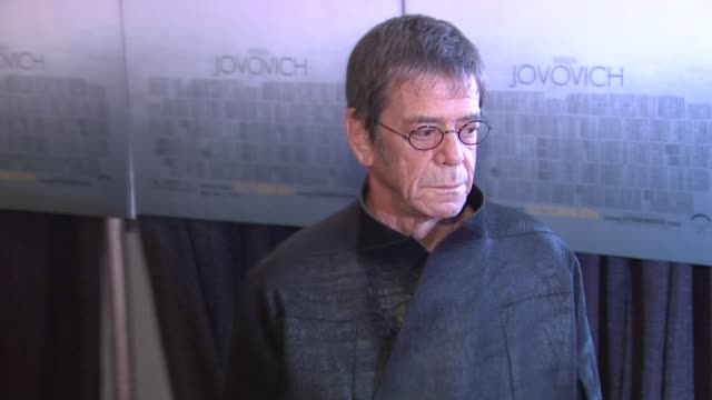 lou reed at the 'stone' new york premiere - arrivals at new york ny. - ルー リード点の映像素材/bロール