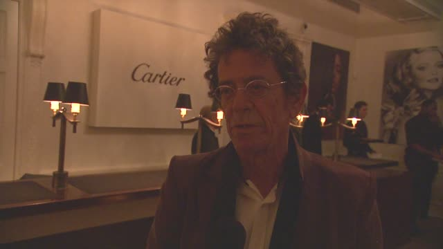 lou reed talks about cartier's design at cartier exhibition preview & cocktail celebration for cartier & aldo cipullo, new york city in the 70s and... - ルー リード点の映像素材/bロール
