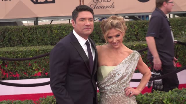 louis aguirre and debbie matenopoulos at the 22nd annual screen actors guild awards arrivals at the shrine auditorium on january 30 2016 in los... - shrine auditorium stock videos & royalty-free footage