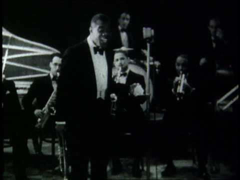 louis armstrong playing i cover the waterfront live in copenhagen / denmark - 1933 stock videos & royalty-free footage