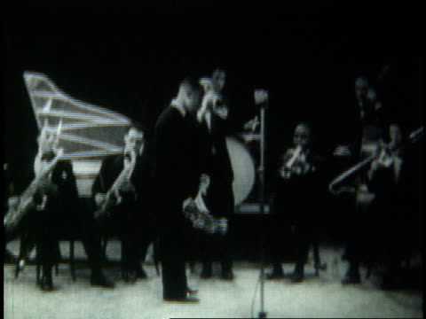 louis armstrong playing tiger rag live / copenhagen denmark - 1933 stock videos & royalty-free footage