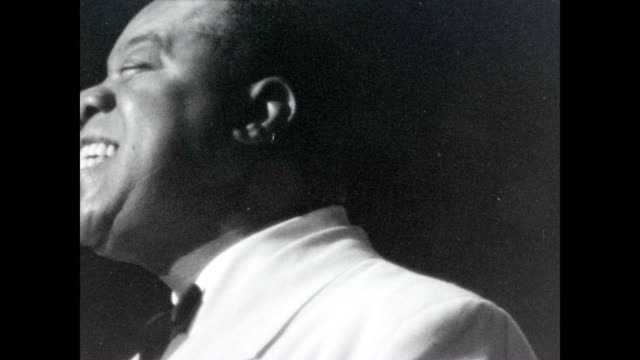 louis armstrong sings and smiles in this archival film. - black history in the us stock videos & royalty-free footage