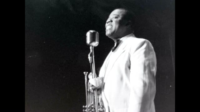 louis armstrong sings at a club. - black history in the us stock videos & royalty-free footage