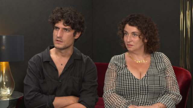louis garrel on whether the french revolution speaks to modern day problems with democracy at 'one nation, one king' interviews- 75th venice film... - french revolution stock videos & royalty-free footage