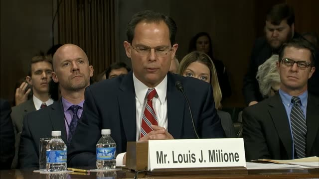 louis milione deputy assistant administrator of the drug enforcement administration in the office of diversion control tells the senate judiciary... - prescription drug abuse stock videos & royalty-free footage