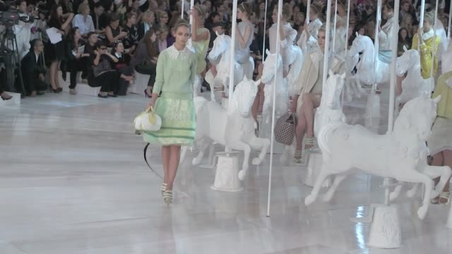 Louis Vuitton Fashion Show in Paris starring Kate Moss on October 05 2011 in Paris France