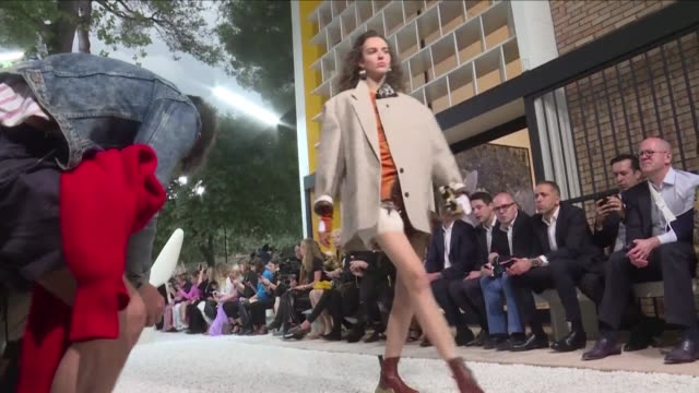 louis vuitton presents a new collection called croisiere a the marguerite et aimé maeght fondation in france - cruise collection stock videos & royalty-free footage
