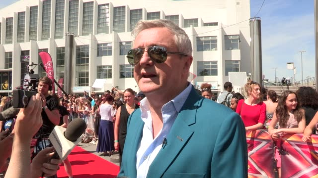 interview louis walsh on the new season at wembley arena on july 15 2013 in london england - wembley arena stock videos and b-roll footage