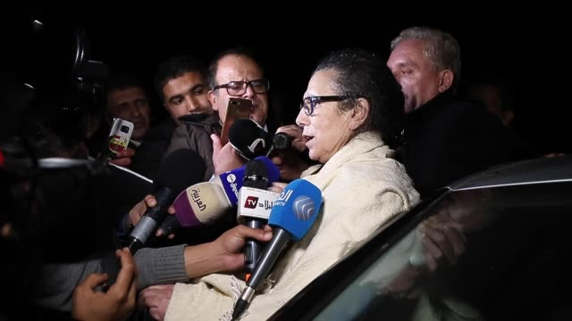 vídeos de stock e filmes b-roll de louisa hanoune leader of the workers' party of algeria after being released from prison in the city of blida about 45 kilometers southwest of the... - southwest usa