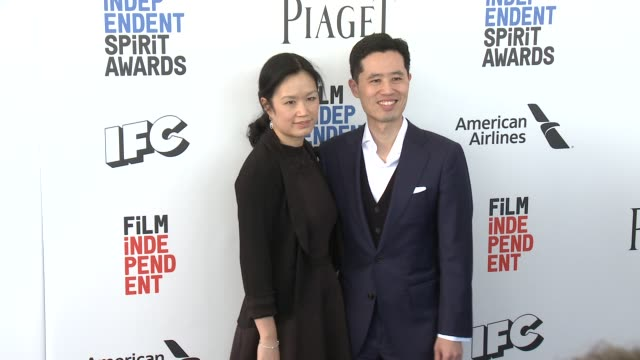 Louise Chen and Colin Chen at the 2017 Film Independent Spirit Awards Arrivals on February 25 2017 in Santa Monica California