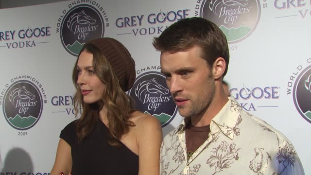 louise griffiths jesse spencer on if they're fans of horse racing getting dressed for the big day what they're most looking forward to at the... - grey goose vodka stock videos & royalty-free footage
