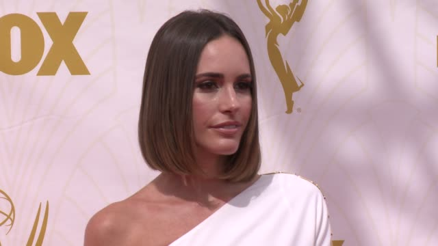 louise roe at 67th annual primetime emmy awards in los angeles, ca 9/20/15 - annual primetime emmy awards stock videos & royalty-free footage