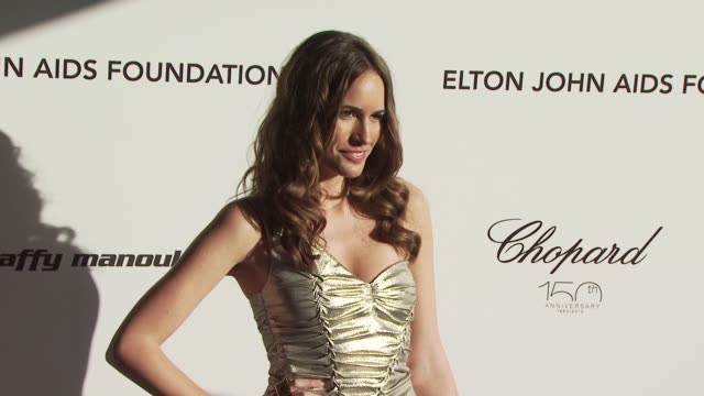 louise roe at the 18th annual elton john aids foundation oscar party at west hollywood ca. - oscar party stock videos & royalty-free footage
