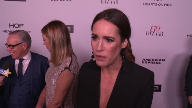 INTERVIEW Louise Roe on what brings her out what being fashionable/stylish means to her and who her style icons are at the Harper's BAZAAR Celebrates...