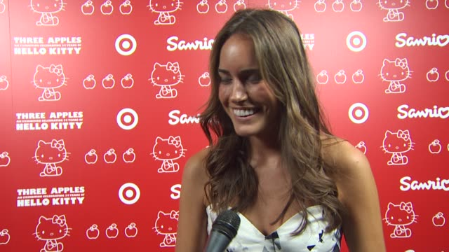 louise roe on when she first discovered hello kitty and her fondest memory why she loves hello kitty why she wanted to be a part of the night at the... - hello kitty stock videos and b-roll footage