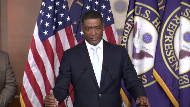 louisiana congressman cedric richmond is asked whether increased pattern and practice investigations of police departments would lead to problems... - substance abuse stock videos & royalty-free footage