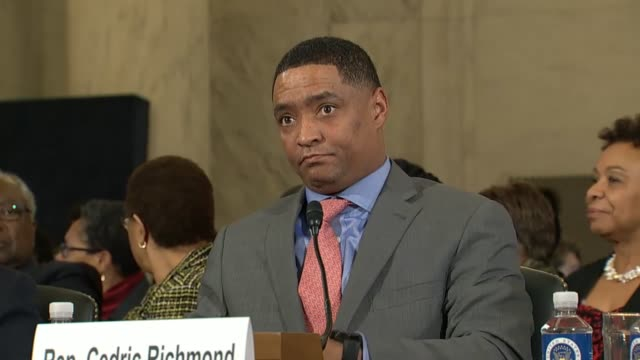 louisiana congressman cedric richmond is interrupted by two separate protesters before proceeding with his speech where he admonishes the committee... - testimony stock videos & royalty-free footage