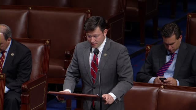 louisiana congressman mike johnson says in debate on a balanced and budget amendment to the constitution that he puts it the clock on the screen... - トーマス ジェファーソン点の映像素材/bロール