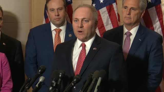 vídeos de stock, filmes e b-roll de louisiana congressman steve scalise says he had enjoyed being the whip and in traveling around the country and swing districts people love the... - política e governo