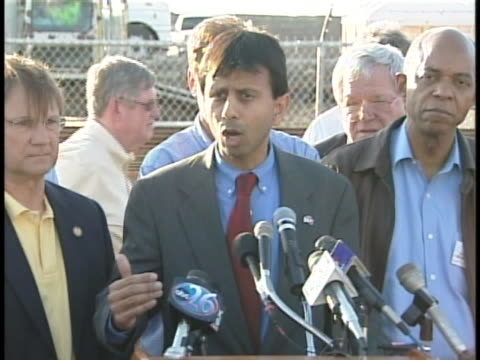 louisiana governor bobby jindal gives a speech about the recovery efforts after hurricane katrina. - 2006 stock videos & royalty-free footage