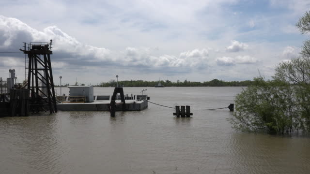 louisiana mississippi river ferry landing - log stock videos & royalty-free footage
