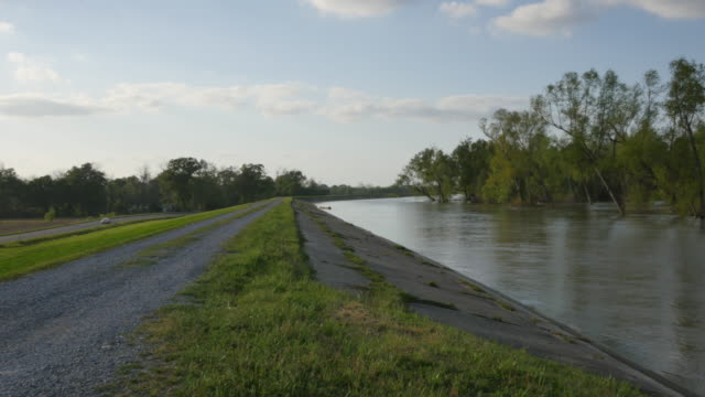 louisiana mississippi river levee - levee stock videos & royalty-free footage
