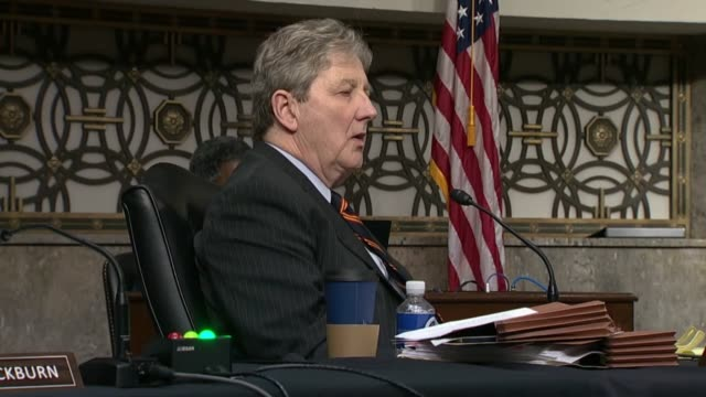 louisiana senator john kennedy asks former fbi director james comey at a senate judiciary committee hearing in review of the 2016 crossfire hurricane... - an answer film title stock videos & royalty-free footage