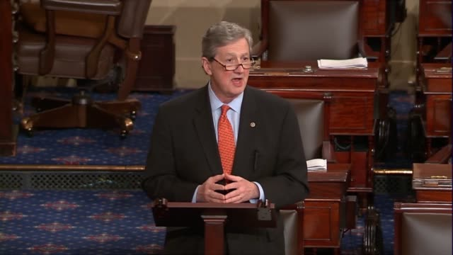 louisiana senator john kennedy engages in the floor debate over the nomination of judge neil gorsuch to sit on the supreme court, saying that many... - louisiana stock videos & royalty-free footage