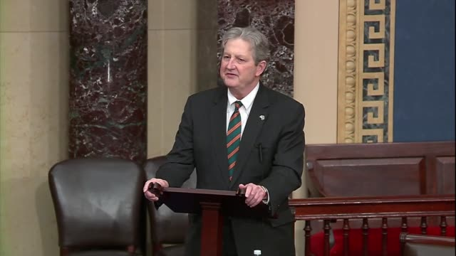 louisiana senator john kennedy of the senate judiciary committee says during a 30 hour floor debate before a confirmation vote for seventh circuit... - united states congress点の映像素材/bロール