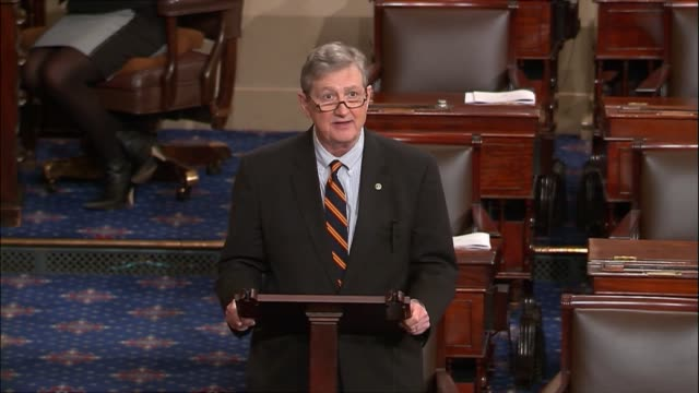 stockvideo's en b-roll-footage met louisiana senator john kennedy says that as the senate irons out details for a comprehensive tax reform that one of the greatest obstacles on its... - repatriëring