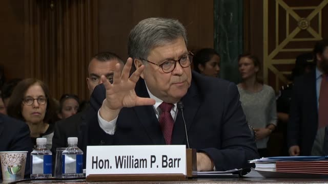 louisiana senator john kennedy says to attorney general william barr at a senate judiciary committee hearing on the report of special counsel robert... - robert kennedy attorney general stock videos and b-roll footage