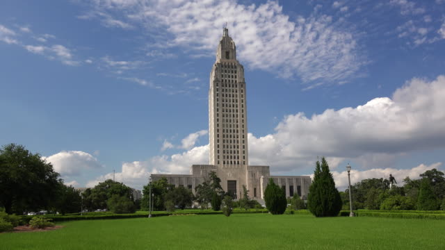Louisiana State Capitol Building against sky in Baton Rouge