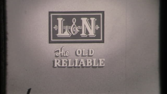 louisville & nashville railroad: the old reliable logo - tennessee stock videos & royalty-free footage