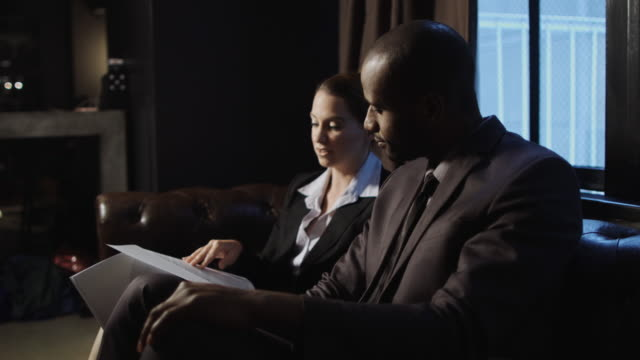 lounge business meeting - printout stock videos & royalty-free footage